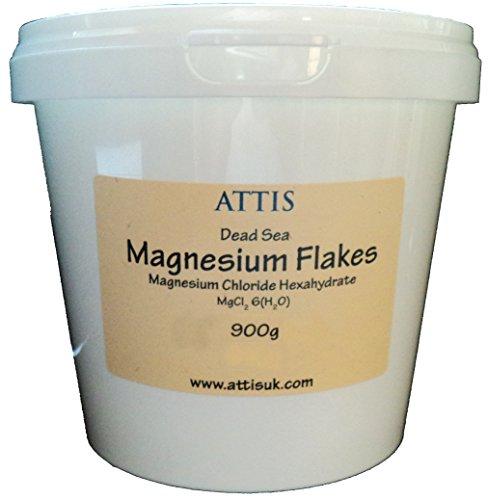 ATTIS Magnésium de La Mer Morte Flocons de Chlorure - 900g
