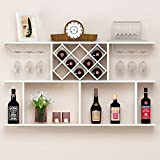 Wine Rack Portabottiglia - Applique da Parete per armadi a Muro Appeso al Muro Moderno e Minimalista per Vino (Colore : Bianca)