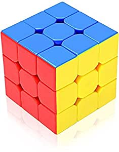 Giftoshopee Magic Speed Cube 3x3x3, High Stability, Stickerless, Amazing Stress Reliever Cube Game, Easy Turning and Smooth Play Puzzle Toy, Multi-Color