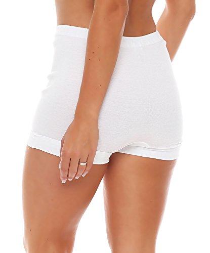 3er Pack Damen Taillen-Pagen-Slips (Schlüpfer, Slip, Unterhose) Nr. 406 ( Weiß / 56/58 - (XXX-Large) ) - 3