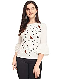 J B Fashion J B Women Printed Top with 3/4 Sleeves for Fancy Top, Casual Wear, Under 399 Top for Women/Girls Top
