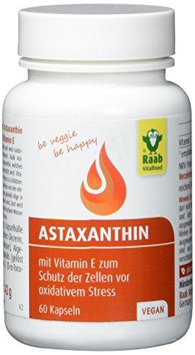 Raab  Astaxanthin Kapseln, 60 Kapseln, 1er Pack (1 x 42 g Dose)