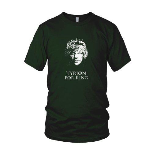 GoT: Tyrion for King - Herren T-Shirt, Größe: L, Farbe: dunkelgrün