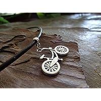 ✿ BIKE COLLAR DE BICICLETA EN CUERO MARRÓN collar collar marrón, cadena de cuero, amante de la bicicleta, protección de la naturaleza, protección del medio ambiente
