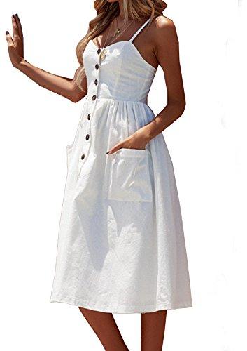 Quceyu Femme Robe Chic Longue Ete Boheme Floral Épaules Dénudées Nu Col Casual Plage Vintage Robe (Blanc -1, X-Large)