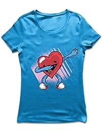 lepni.me Camiseta Mujer Dabbing Corazón Divertido, Regalo del día ...