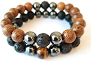 Perfume wood attraction bracelet natural perfume fragrance wood For men women gents gift set Organic beads woo