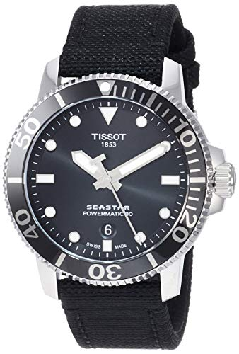 Tissot Herren-Uhren Analog Automatik One Size Textil 87687325