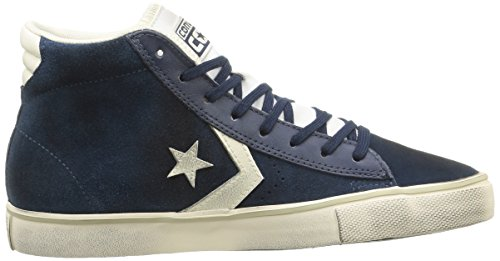 Converse Pro Leather Vulc Mid Suede/Lth, Baskets Pro Leather Vulc Mid mixte adulte Dress Blue/Off White