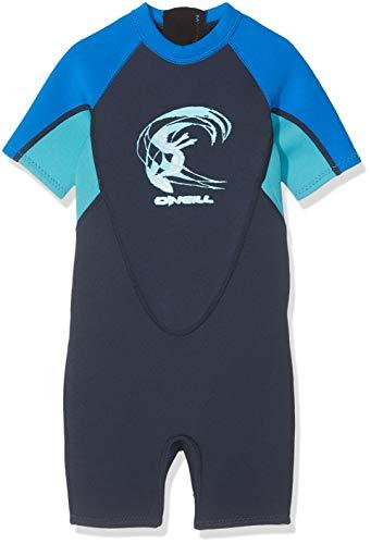 O'Neill Wetsuits Kinder Reactor Wetsuit, Slate/Sky/Ocean, 4 -