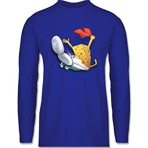 Shirtracer Comic Shirts - Spülschwamm - Wasserrutsche - Herren Langarmshirt Royalblau