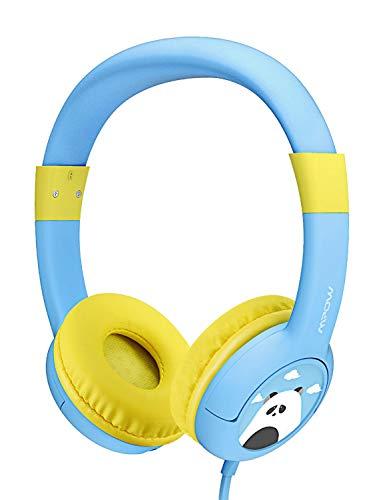 er, Kopfhörer für Kinder mit 85dB Lautstärke Begrenzung Gehörschutz & Musik-Sharing-Funktion, Kinderkopfhörer mit Kinderfreundliche sichere Lebensmittelqualität, Blau ()