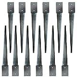Bodenhülse 710x710x750 Einschlagbodenhülse Pfostenträger Anker Pfostenhalter (12)