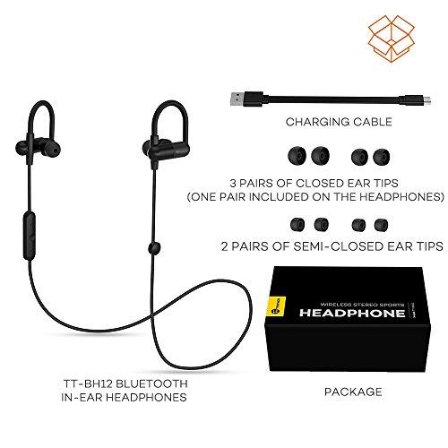 Bluetooth-Kopfhrer-TaoTronics-Kabellose-Sport-Kopfhrer-In-Ear-Kopfhrer-Stereo-Headset-Wireless-QY11-Ohrhrer-Schweiabweisend-beim-Joggen-und-Trainieren-Bluetooth-40-aptX-8-Stunden-Betriebszeit-Kabelkla