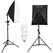 yisitong Photo Studio 675 W Kit de iluminación continua Softbox 50 x 70 cm caja suave Photo Studio Set + ajustable aleación de aluminio Pie de iluminación + 135 W Photo Studio Light Bulb
