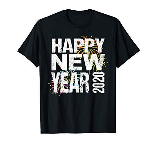 Neues Frohes Jahr Kostüm - Frohes Neues Jahr Silvester 2020 Shirt Geschenk Mit Feuewerk
