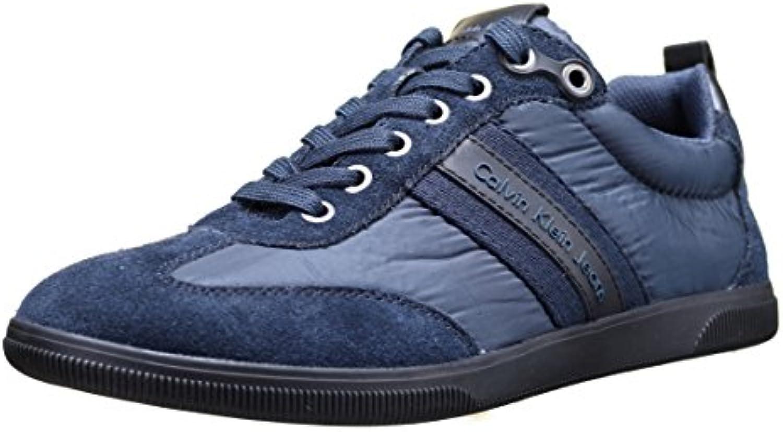 Calvin Klein Calvin Klein Jeans Utah Piuma Nylon Suede Midnight Mdb  Herren Sneaker
