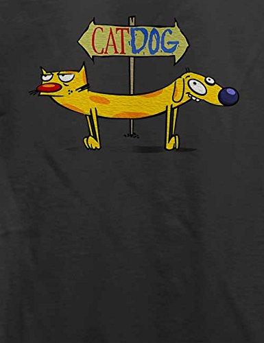 Cat Dog T-Shirt Grau