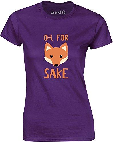 Brand88 - For Fox Sake, Gedruckt Frauen T-Shirt Lila