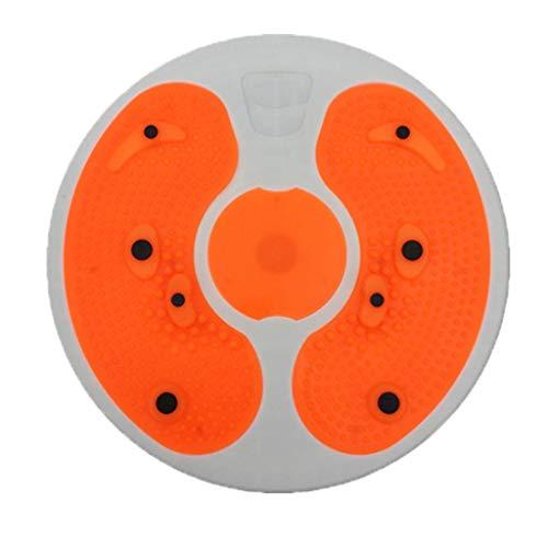 MA87 Plate Exercise Board Fettabweisung Home Fitness Figur Schlank Disc Fußmassage Twist (Orange)