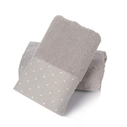 HWH Waschen Sie Gesicht Handtuch, Baumwolle Starke Wasseraufnahme Erwachsene Schnell Trocknende Handtuch Baby Hautfreundliche Weiche Badetuch 75 * 34 CM 2 STÜCKE Saugfähige Handtücher ( Farbe : B )