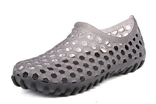 Sapatos Mens Secagem Banho Crocs Dois Aquáticos Praia Sapatos Água De Sapatos Peça Sapatos Leve Desportos De Rápida Cinza Verão De De rAqpOwvr