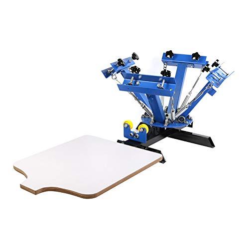 CGOLDENWALL Siebdrucker-Set, manuelle T-Shirt-Drucker, 4-farbig, Druckpresse, T-Shirt-Drucker, 550 x 450 mm Fläche für Kleidung/Tasche -