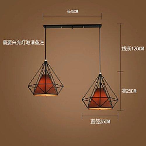 Luckyfree Kreative Moderne Mode Anhänger Leuchten Deckenleuchte Kronleuchter Schlafzimmer Wohnzimmer Küche, Dunkelgraue 2-25Cm Black Box Lady Hood