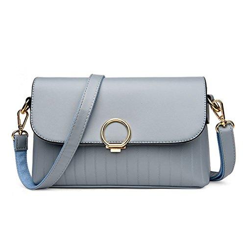 LAIDAYE Ms. Schulter Messenger Handtasche Blue
