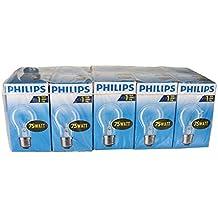 10 x Bombilla Philips 75 W E27 transparente 75 Watt bombillas de incandescencia