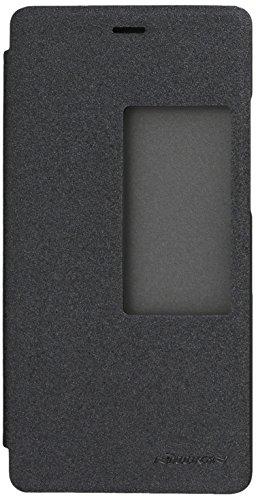 Nillkin Sparkle - Carcasa tipo funda libro protectora con ventana inteligente s-view para Huawei Ascend P8 - Negro