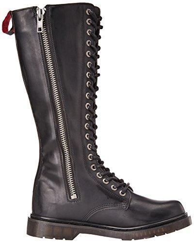 Demonia Herren Defiant-400 Klassische Stiefel Schwarz (Blk Vegan Leather)