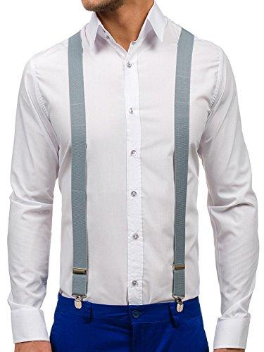 BOLF Hosenträger Herren Männer Hose Muster Clips Trendigen Design LAVII SZ01 Grau [1L4] |