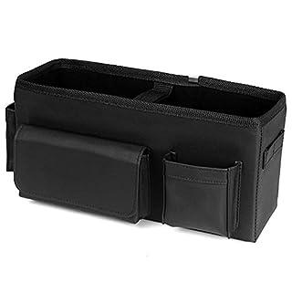 Elec Tech Sitztasche Organizer Auto Rückenlehnenschutz Auto Aufbewahrungstasche für mehr Ordnung und Platz in Ihrem Kofferraum Schwarz