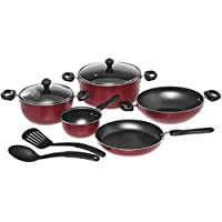 Prestige 9-Piece Aluminum Non-Stick Cookware - Red
