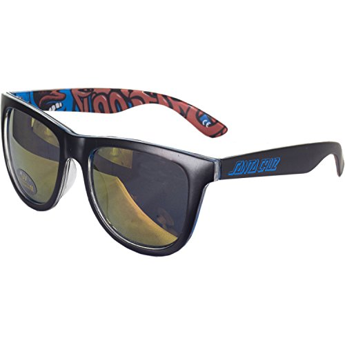 Santa Cruz Sunglass Screaming Insider, Black/Blue, One Size, SANACTSCIN