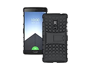 Pudini Hybrid Kickstand Armor Case Cover For Oneplus 2 two - Black - Free Screenguard