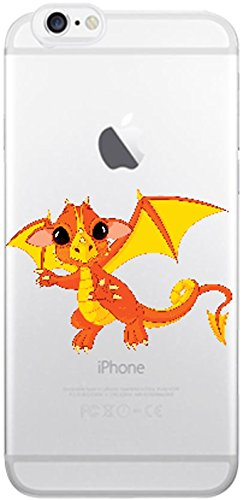Blitz® Animaux Fables motifs housse de protection transparent TPE caricature bande iPhone Chien de dessin animé M14 iPhone X Dragon M4