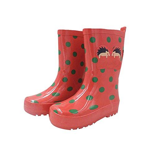 Haodasi Funny Kinder Infants Rutschfest Wasserdicht Candy Colors Regen Stiefel Rainboots Gummi Rain Shoes Regen Schuhe Red