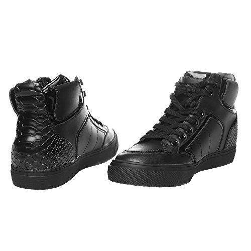 RIFLE Chaussures Femme, Haute Avec Lacets. mod. 162-W-311-327 Noir