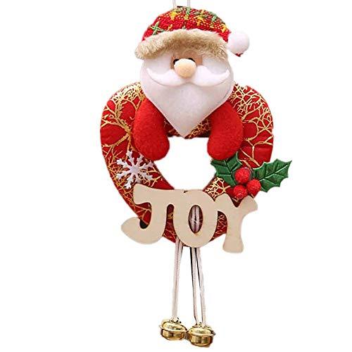 Yunyoud decorazioni natalizie decorazioni per la casa decorazioni per alberi decorativi regali di natale albero di compleanno piccolo pendente lettere cartello in legno (free, b)