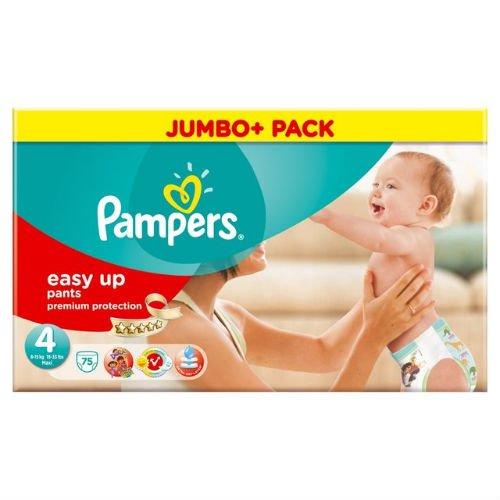 Pampers Easy Up Windeln, Größe 4, Mega-Pack, 1 Packung mit 75 Stück
