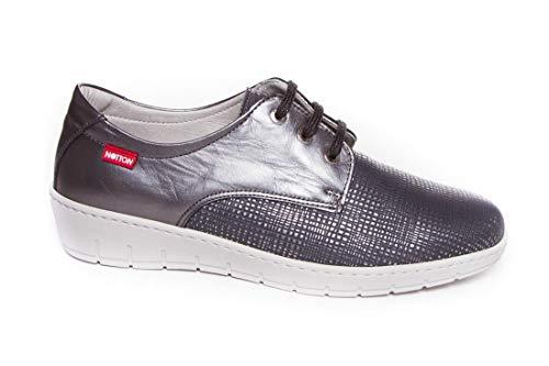 Zapato Mujer Muy cómodo Piel - Notton 2958 Plomo