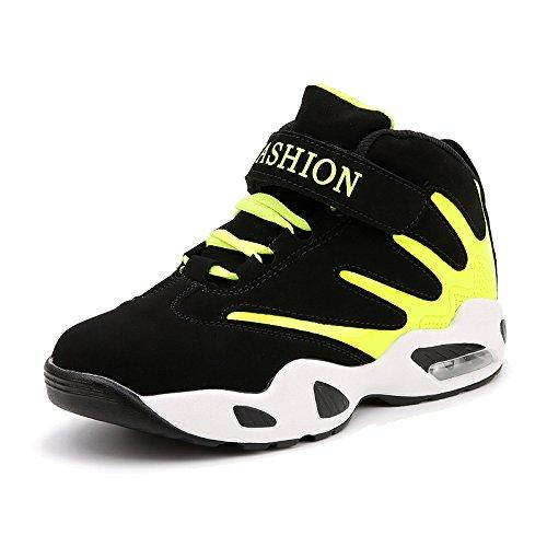 HYLM vendono come calde torte uomini spessa scarpe casual scarpe coreane casual scarpe aumentato scarpe sportive scarpe da corsa scarpe piatti fluorescent green