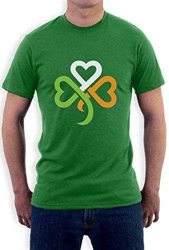amrock Kleeblatt Irland Farben T-Shirt Large Grün (St. Patricks Day Shamrock)