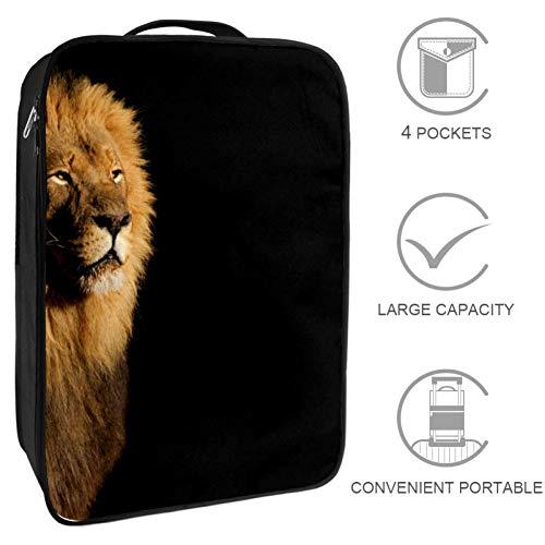 Bennigiry Reisetasche mit Tier-Tiger-Motiv, tragbare Aufbewahrungstasche für Golf-Schuhe für Damen und Herren -