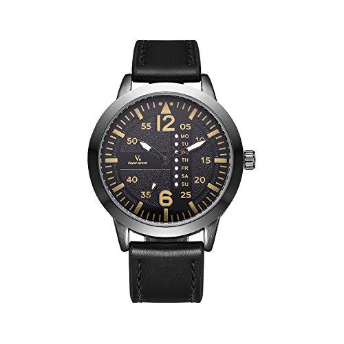 Herren-Uhr ungewöhnliche Militärsportarmbanduhr, zwingt marines corps großer Gesicht Woche Anzeige Zu - Marine-gesicht