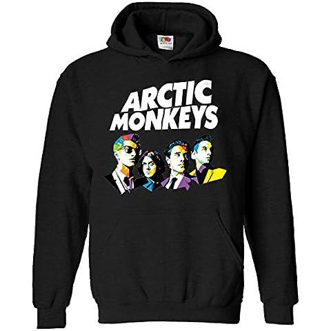 """Felpa Unisex """"Arctic Monkeys - Art logo"""" - Felpa con cappuccio rock band LaMAGLIERIA"""