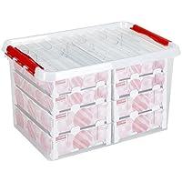 Sunware Q-Line Weihnachtskugeln Box mit Tabletts für 116, Transparent Rot, One Size
