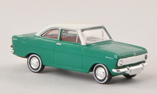 Opel Kadett A Coupe, grün/weiss , Modellauto, Fertigmodell, Brekina Drummer 1:87
